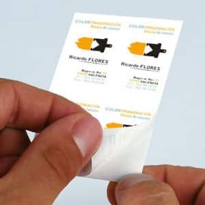 tarjeta de visita pegatina