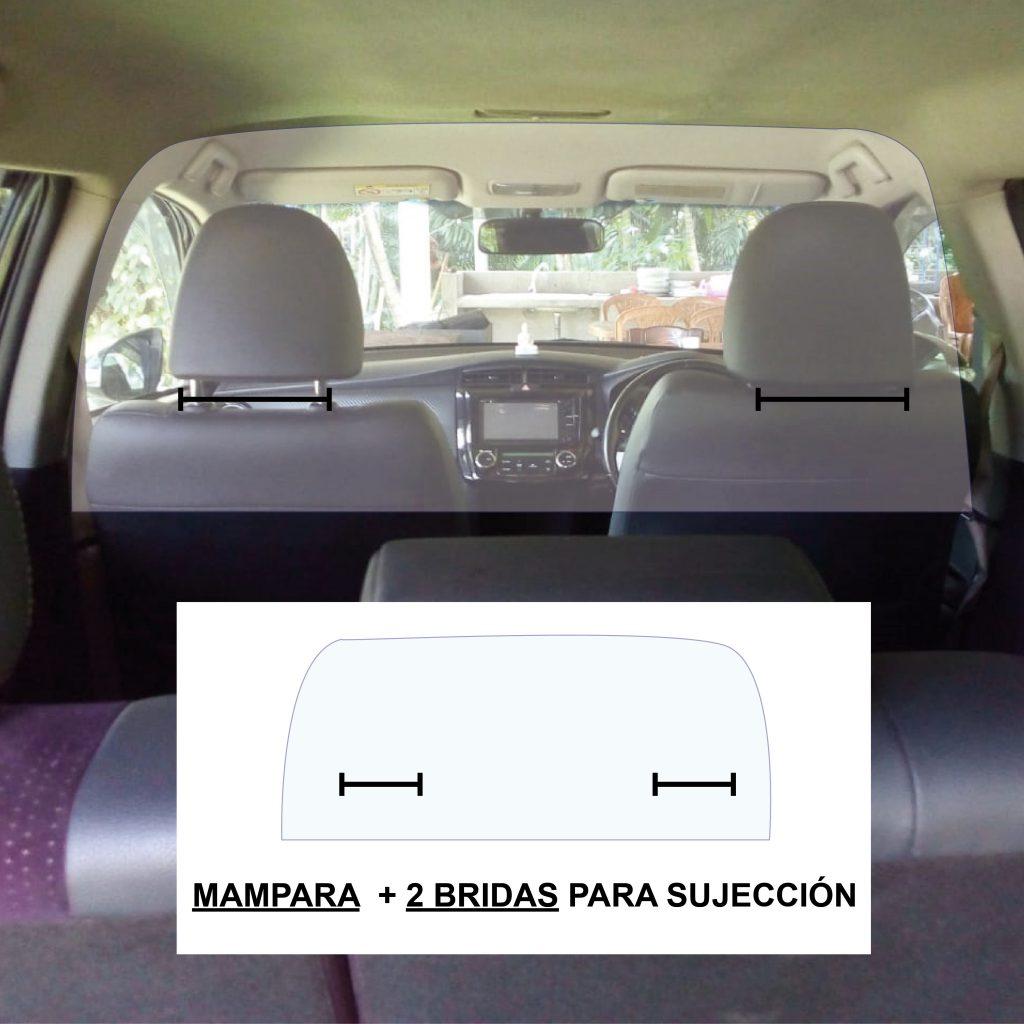 mampara proteccion taxi